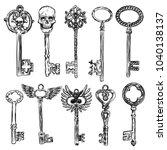 ornamental medieval vintage... | Shutterstock . vector #1040138137