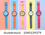 set of multicolored... | Shutterstock . vector #1040139379