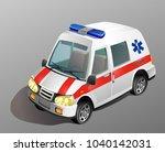 ambulance car. vector... | Shutterstock .eps vector #1040142031