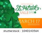 st. patrick's day sale banner.... | Shutterstock .eps vector #1040143564
