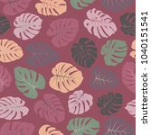 vector tropical pattern with... | Shutterstock .eps vector #1040151541