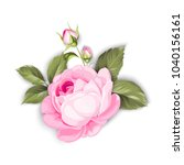 the blooming rose with a couple ... | Shutterstock .eps vector #1040156161