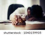 businessman drinking from...   Shutterstock . vector #1040159935