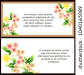 invitation with floral... | Shutterstock .eps vector #1040165089