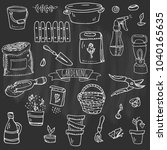 hand drawn doodle set of...   Shutterstock .eps vector #1040165635
