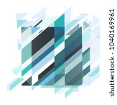 abstract blue cover or template ... | Shutterstock .eps vector #1040169961