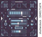 futuristic pixel flat style... | Shutterstock .eps vector #1040171674