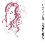 vector  stylish  original hand... | Shutterstock .eps vector #1040174374