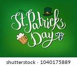 hand sketched saint patrick's... | Shutterstock .eps vector #1040175889