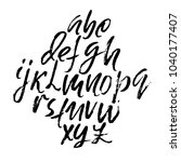 handdrawn dry brush font.... | Shutterstock .eps vector #1040177407