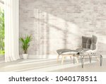 interior modern living room and ... | Shutterstock . vector #1040178511