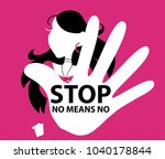 no means no poster  women's... | Shutterstock .eps vector #1040178844
