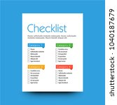 to do checklist design in flat... | Shutterstock .eps vector #1040187679