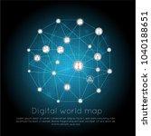 global network connection.... | Shutterstock .eps vector #1040188651