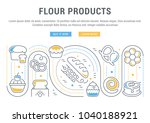 line illustration of flour... | Shutterstock .eps vector #1040188921