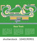 cartoon race track with cars... | Shutterstock .eps vector #1040190901