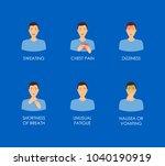 cartoon heart attack...   Shutterstock .eps vector #1040190919