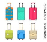 travel suitcase set isolated on ... | Shutterstock . vector #1040198017