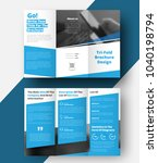 tri fold  brochure with... | Shutterstock .eps vector #1040198794