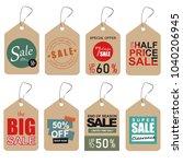 unique sale tags. | Shutterstock . vector #1040206945