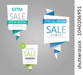 sale banner collection  special ... | Shutterstock . vector #1040206951
