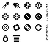 solid vector icon set  ... | Shutterstock .eps vector #1040219755
