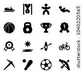 solid vector icon set  ... | Shutterstock .eps vector #1040220565