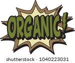 organic comic burst | Shutterstock .eps vector #1040223031