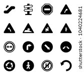 solid vector icon set  ... | Shutterstock .eps vector #1040224681