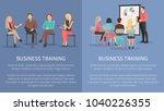 business training set of... | Shutterstock .eps vector #1040226355
