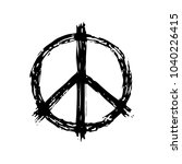 peace sign in black color ... | Shutterstock .eps vector #1040226415