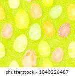 happy easter. seamless easter... | Shutterstock .eps vector #1040226487