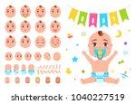 baby constructor create your... | Shutterstock .eps vector #1040227519