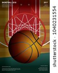 basketball poster advertising... | Shutterstock .eps vector #1040231554