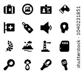 solid vector icon set  ... | Shutterstock .eps vector #1040231851