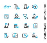 medicine and health symbols | Shutterstock .eps vector #1040233201