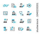 medicine and health symbols | Shutterstock .eps vector #1040233201