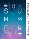 summer event poster flyer... | Shutterstock .eps vector #1040233564