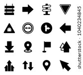 solid vector icon set   sign... | Shutterstock .eps vector #1040234845