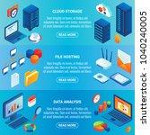 data storage concept isometric... | Shutterstock . vector #1040240005
