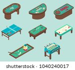 table game icon set. isometric...   Shutterstock . vector #1040240017