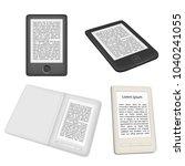 e book reader or e reader  icon ... | Shutterstock . vector #1040241055