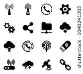 solid vector icon set   antenna ...   Shutterstock .eps vector #1040241205