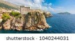 panoramic view to lovrijenac...   Shutterstock . vector #1040244031