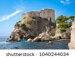 lovrijenac fortress in...   Shutterstock . vector #1040244034