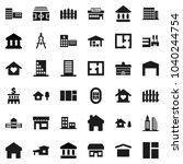 flat vector icon set  ... | Shutterstock .eps vector #1040244754