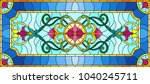 llustration in stained glass... | Shutterstock .eps vector #1040245711