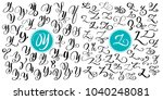 hand drawn vector calligraphy... | Shutterstock .eps vector #1040248081