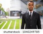 portrait of young african... | Shutterstock . vector #1040249785