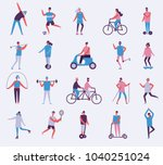 vector illustration in flat... | Shutterstock .eps vector #1040251024